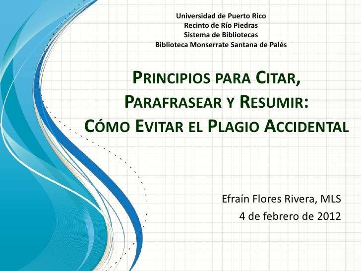 Universidad de Puerto Rico                 Recinto de Río Piedras                 Sistema de Bibliotecas        Biblioteca...