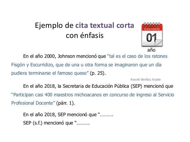 Citas Textuales Apa 2019