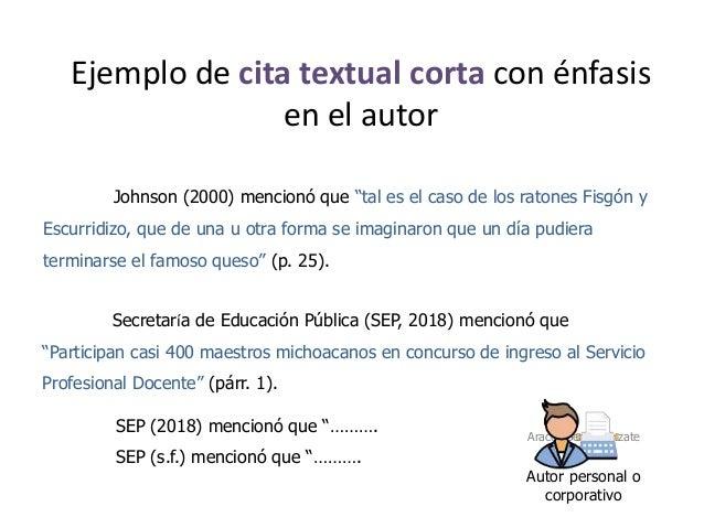 Ejemplos De Citas Textuales Apa 2018 Citas Para Sexo En Rioja