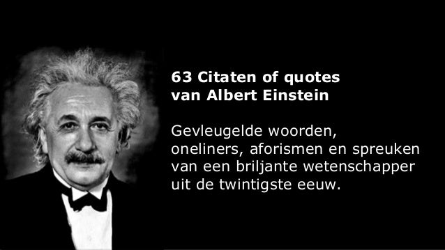 Citaten Einstein : Citaten van albert einstein