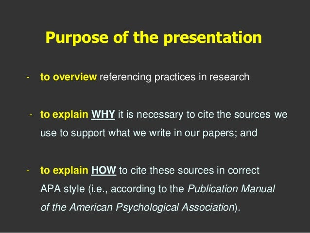 referencing in practice Interactive apa practice exercises home please note that the examples used in these american psychological association (apa) referencing.