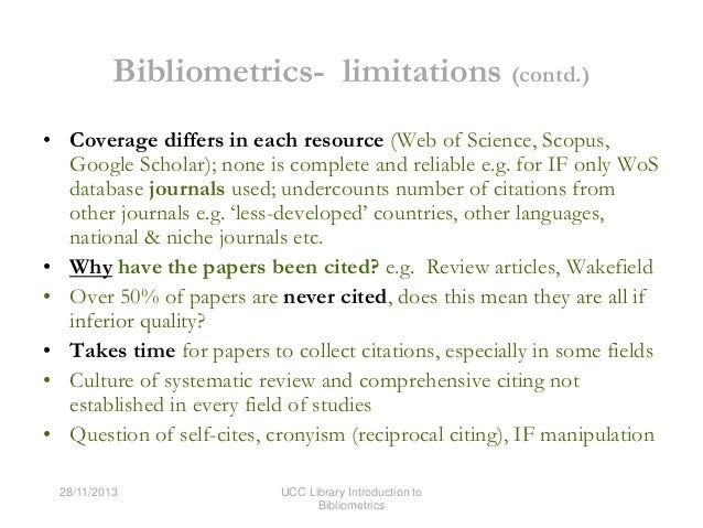 Introduction to Bibliometrics