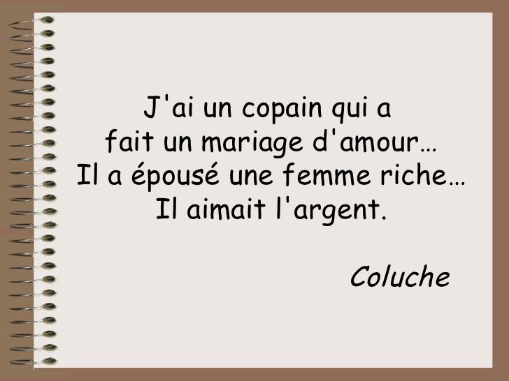 Citation Mariage Coluche Citations Clecyluisvia Web