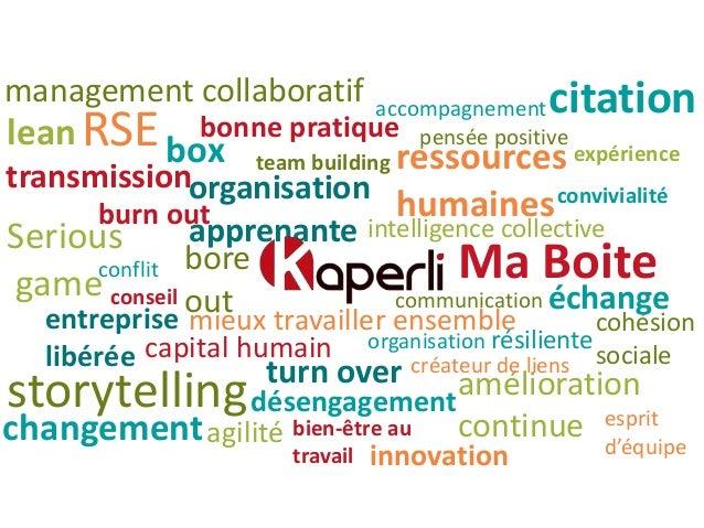 management collaboratif entreprise libérée lean convivialité expérience mieux travailler ensemble team building Serious ga...
