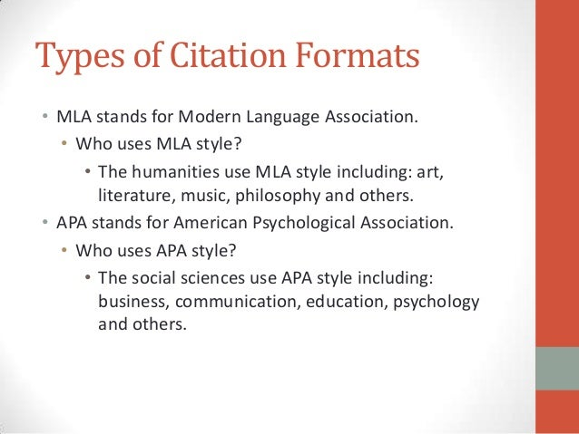 why use apa format to write paper