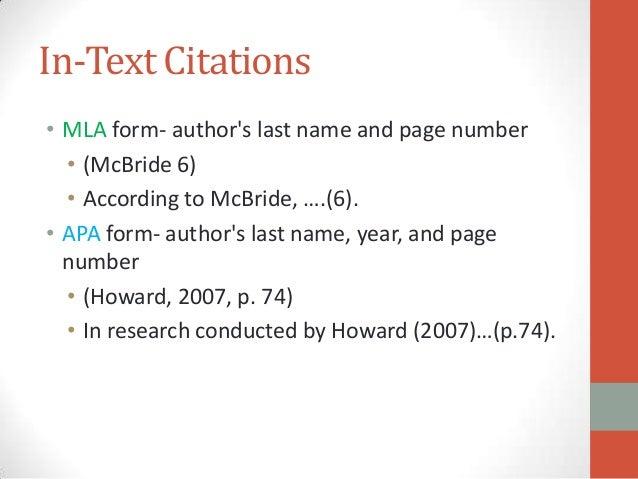 citation in mla