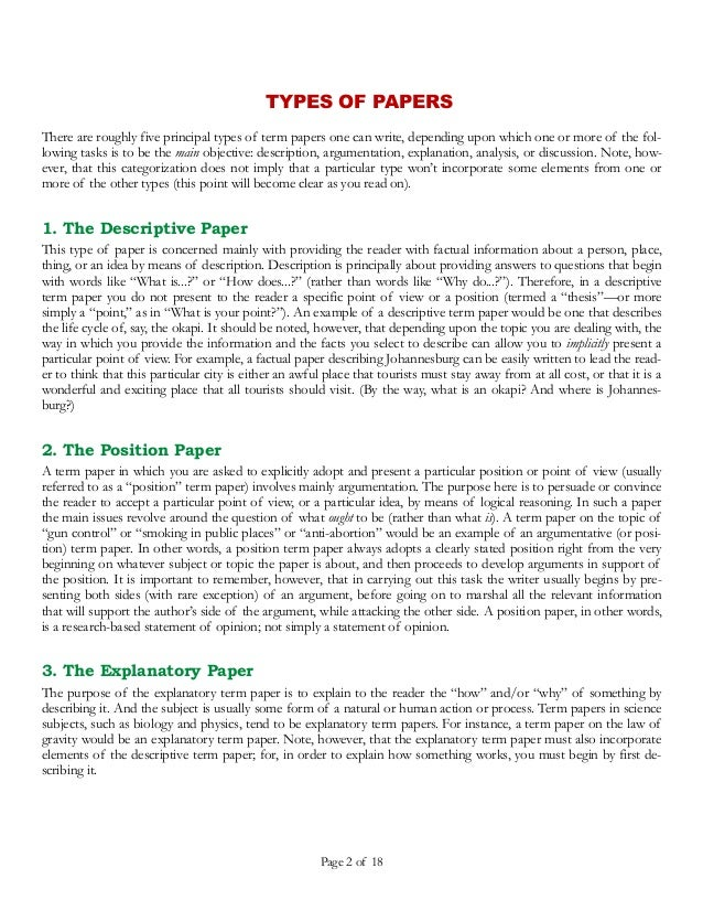 Methods of citation in research papers