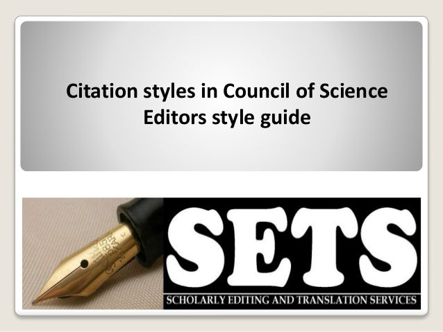 citation style for scientific research papers