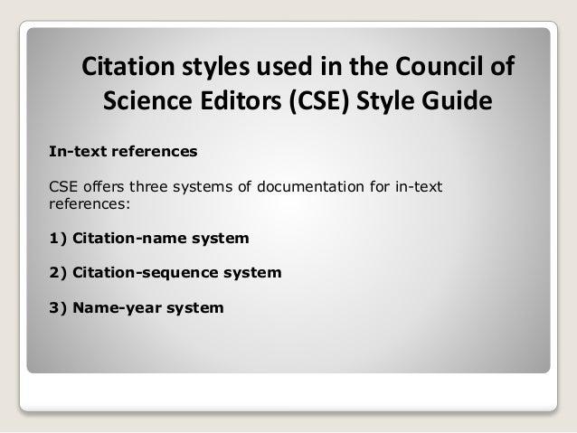 Sample Citation Styles