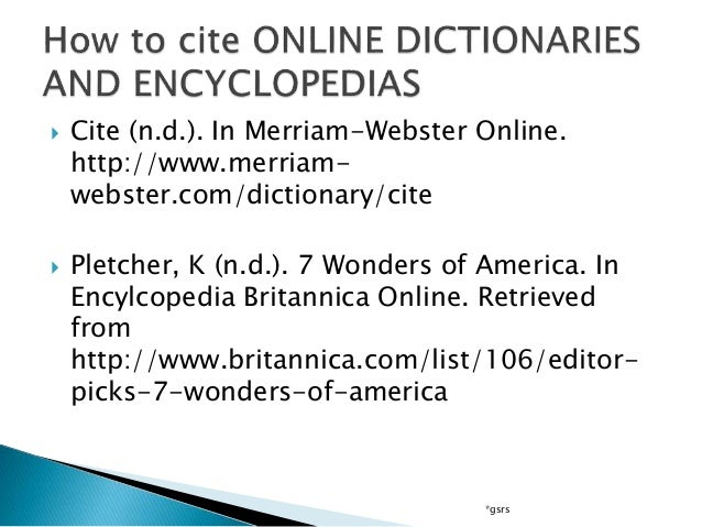 how to help you parenthetically refer to a powerful on line encyclopedia article