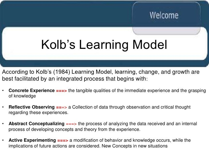 kolb learning style inventory Kolb - learning styles: david kolb published his learning styles model in 1984 from which he developed his learning style inventory kolb's.