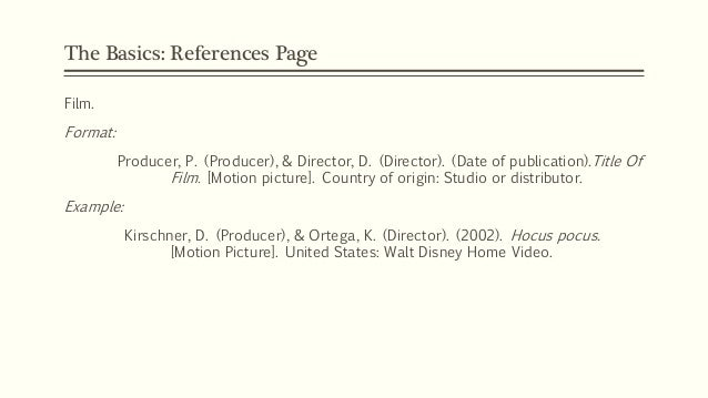 apa style movie titles Wikipedia:manual of style/titles this part of the manual of style covers title formats and style for works of art or which is not part of the film title.