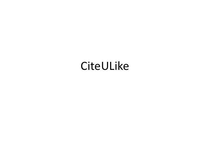CiteULike<br />