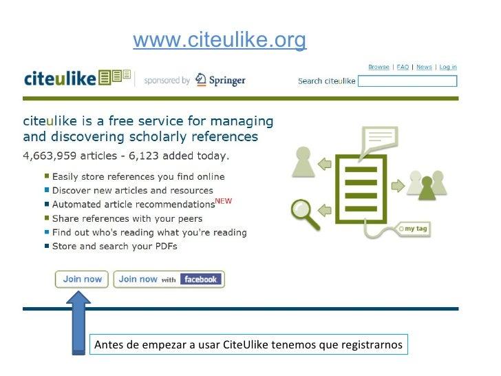 CiteULike Slide 3
