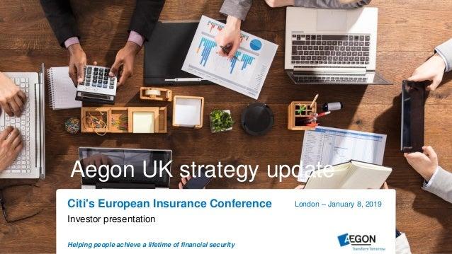 Aegon UK strategy update
