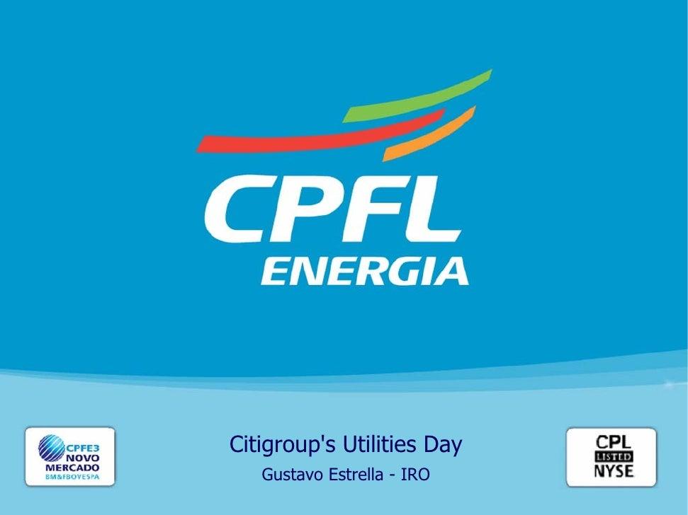 Citigroup's Utilities Day    Gustavo Estrella - IRO