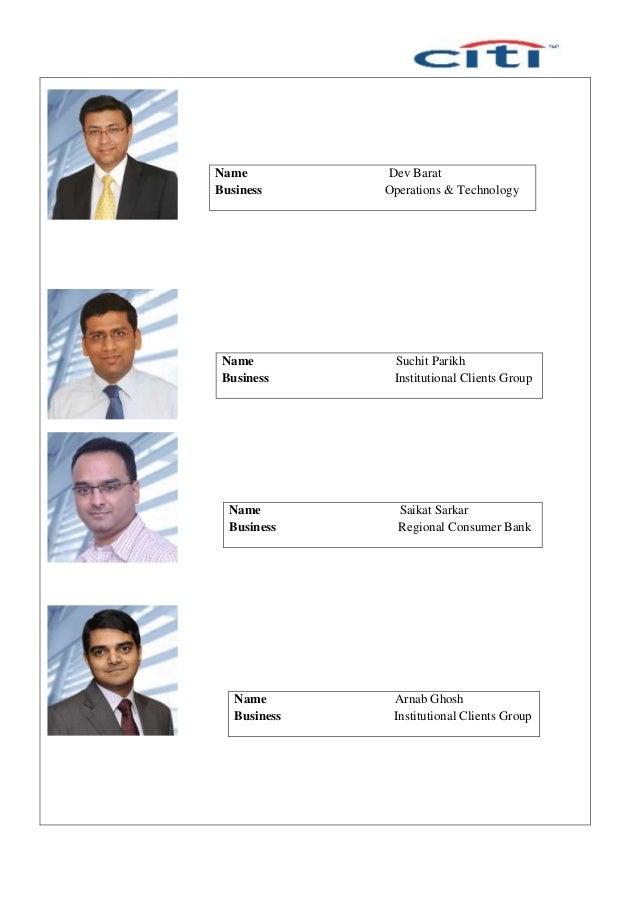 Name Dev Barat Business Operations & Technology Name Suchit Parikh Business Institutional Clients Group Name Saikat Sarkar...