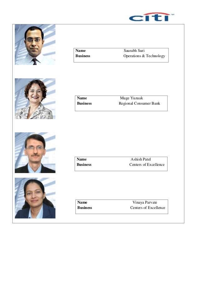 Name Saurabh Suri Business Operations & Technology Name Muge Yuzuak Business Regional Consumer Bank Name Ashish Patel Busi...