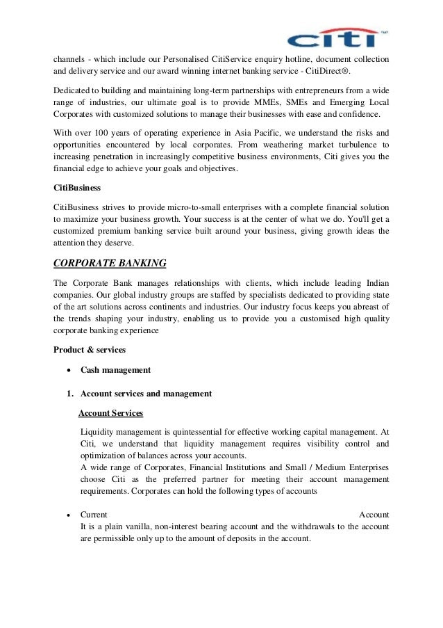 citibank cover letter - Yelom.digitalsite.co