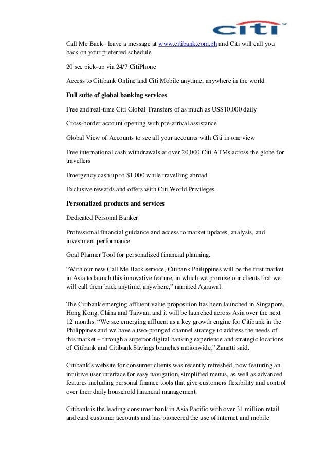 Citi Cover Letter Selol Ink