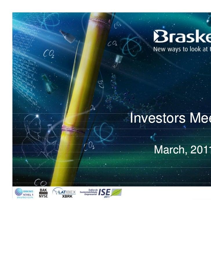 Investors Meeting   March, 2011