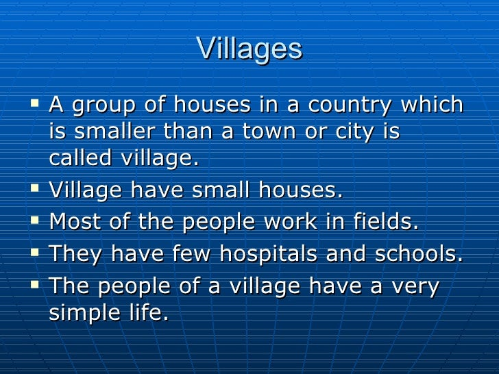 comparative essay on city life vs. village life Difference between city life & country life essay  do you know differences between city life and village  essay question: city life and country life final.