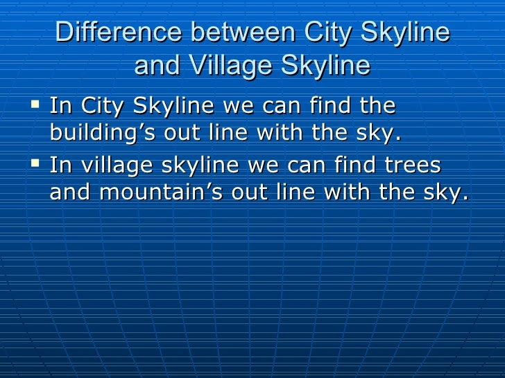 Essay about difference between village and city