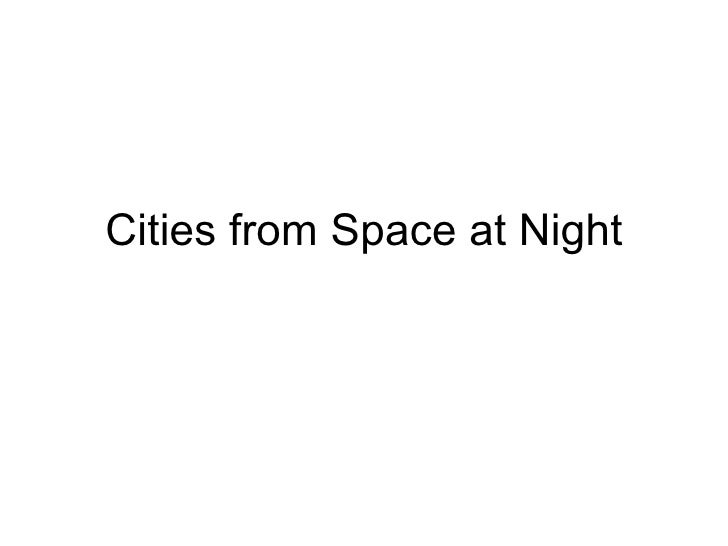 Cities from Space at Night