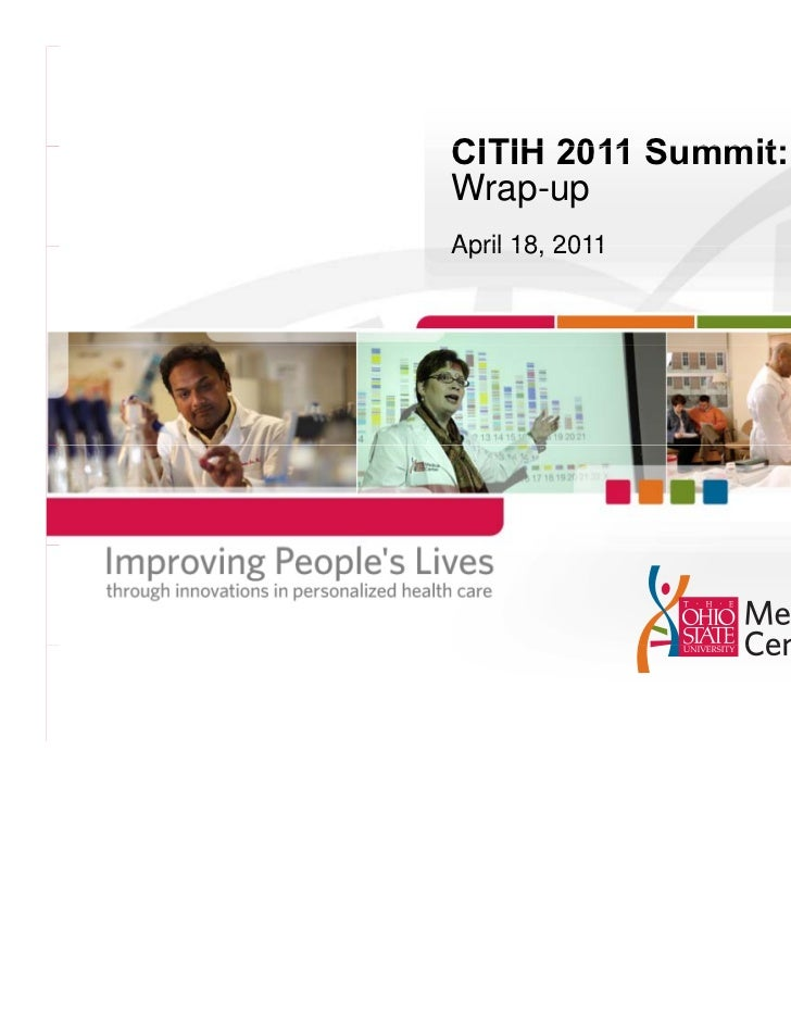 CITIH 2011 Summit:Wrap-upApril 18 2011      18,
