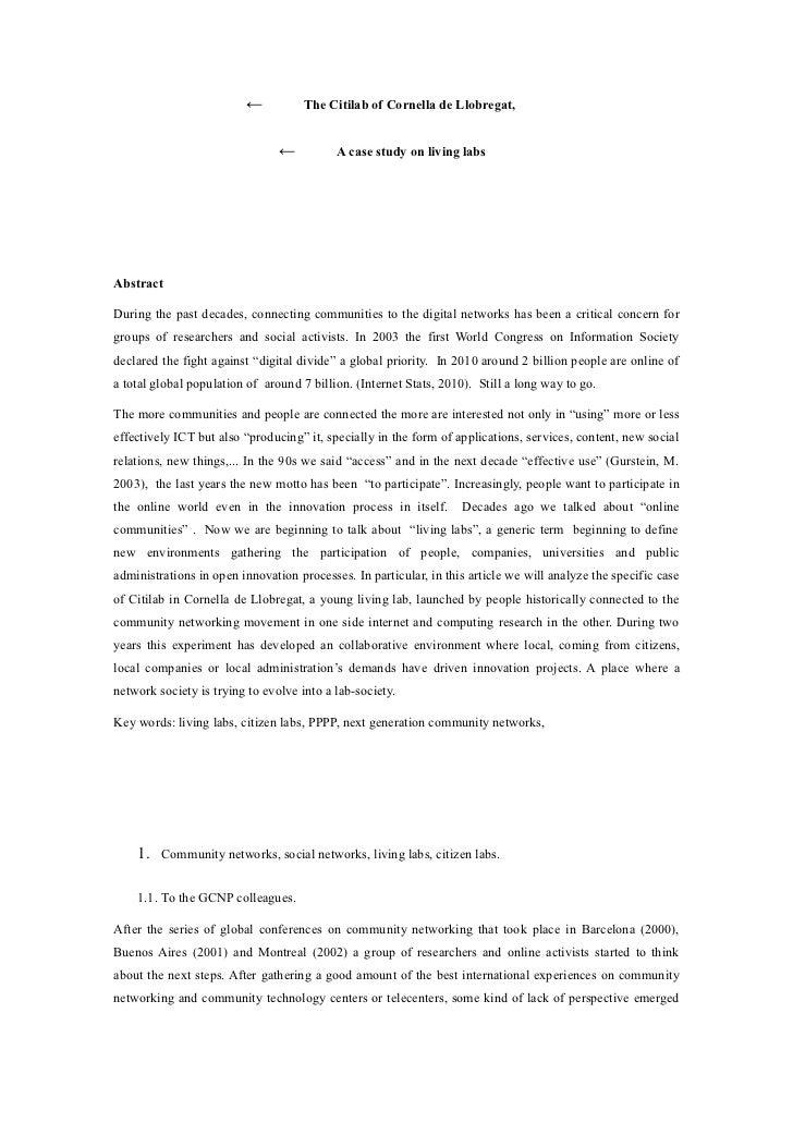 ←           The Citilab of Cornella de Llobregat,                                ←          A case study on living labsAbs...