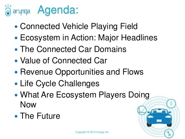 MONETIZING  THE CONNECTED CAR, Citi 2013 Connected Car Symposium Slide 2