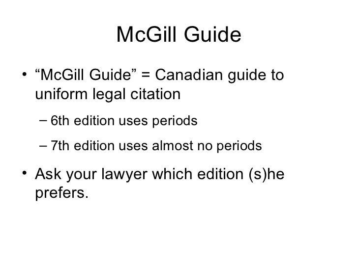 mcgill guide