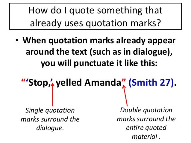 citing a quote