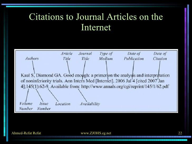 Citations to Journal Articles on the Internet