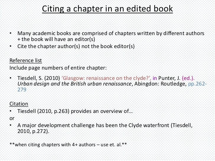 Understanding citing referencing harvard style citing a chapter ccuart Images