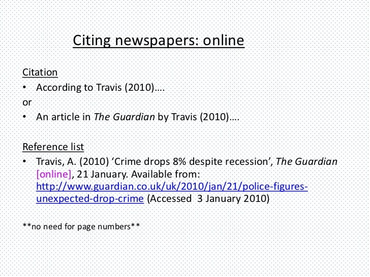 Citing websites and media sources using Harvard referencing