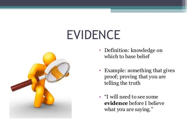 evidence meaning in english
