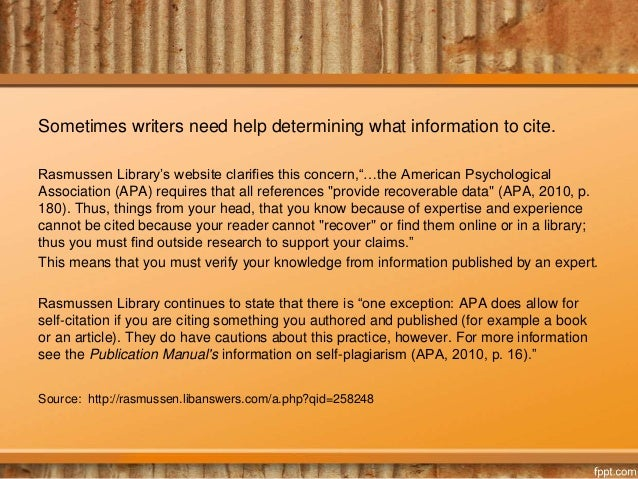 how to reference personal experience in apa format