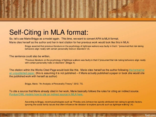 mla 8 works cited page