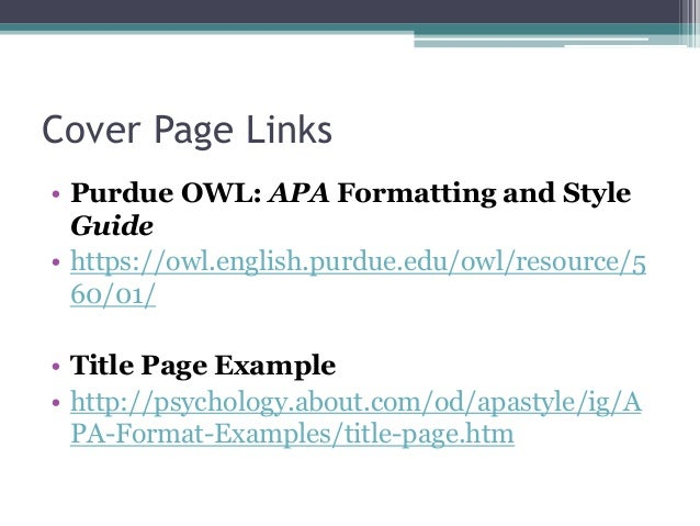 Citing Yourself And Cover Pages
