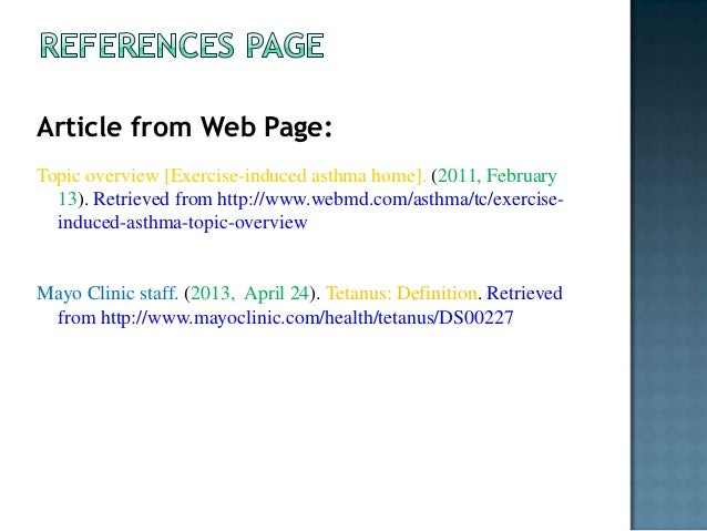 how to cite an article from a website