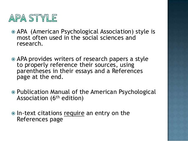 Apa autism research paper with reference page