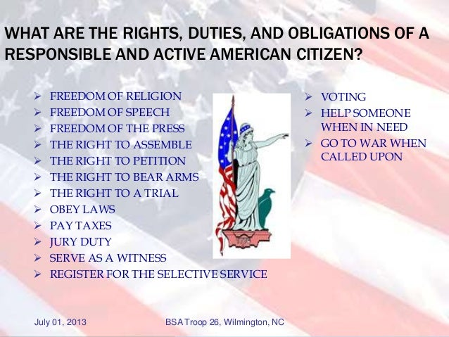 Essay on Rights and Duties of a Citizen.