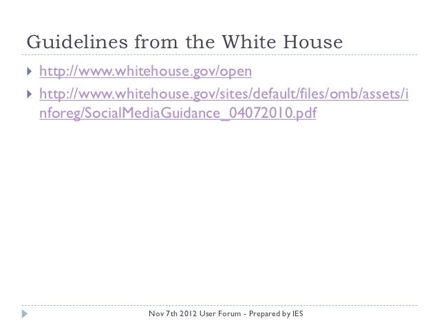 Citizen Engagement Amp Social Media Guidelines And Examples
