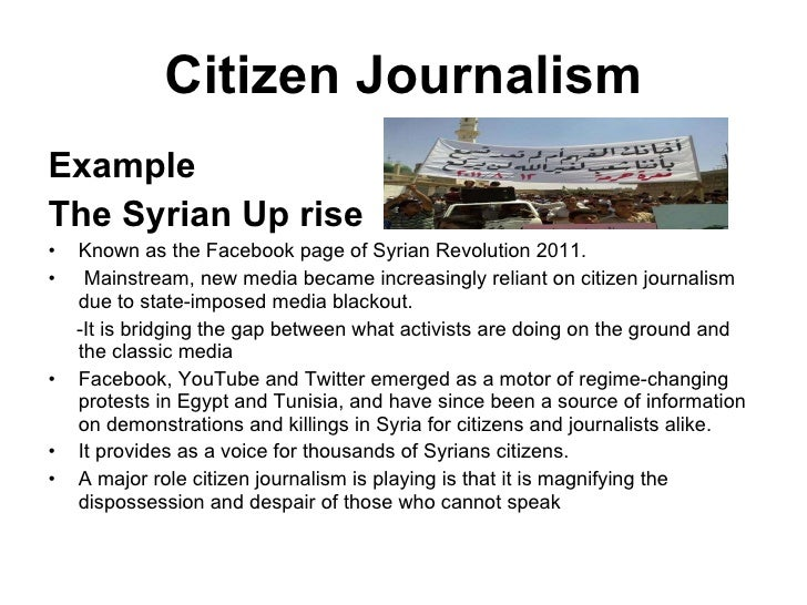 citizen journalism wk7