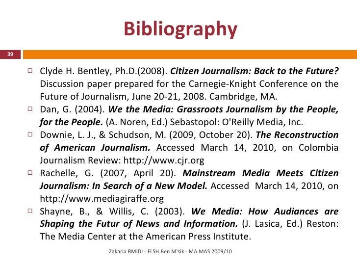 Citizen journalism essays