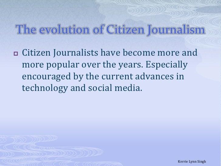 Citizen journalism slides Slide 3