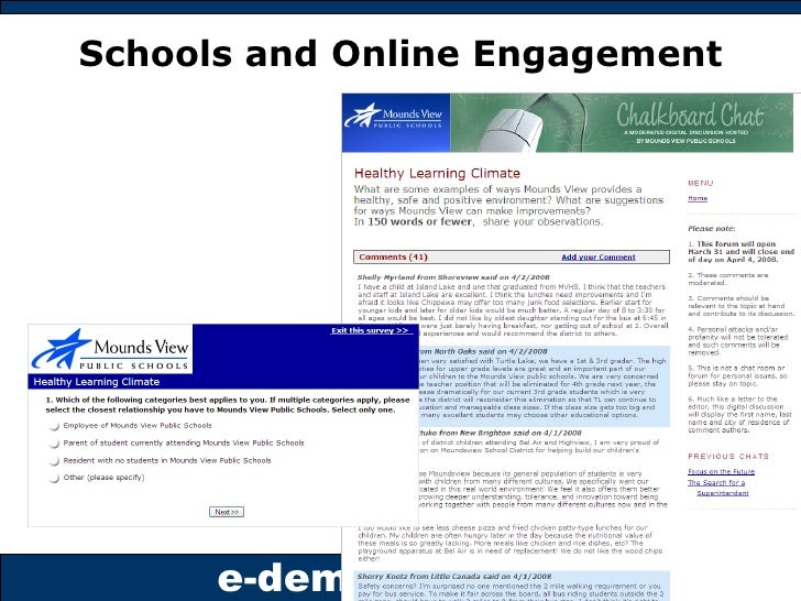 Schools and Online Engagement