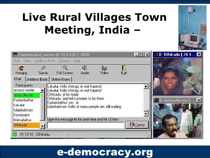Live Rural Villages Town Meeting, India –