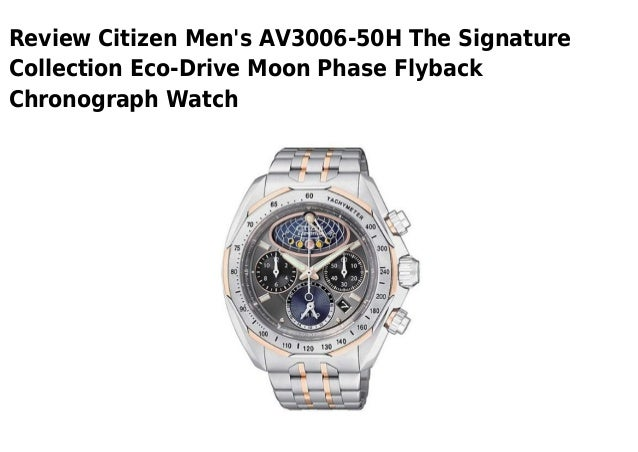 Citizen mens av3006 50 h the signature collection eco